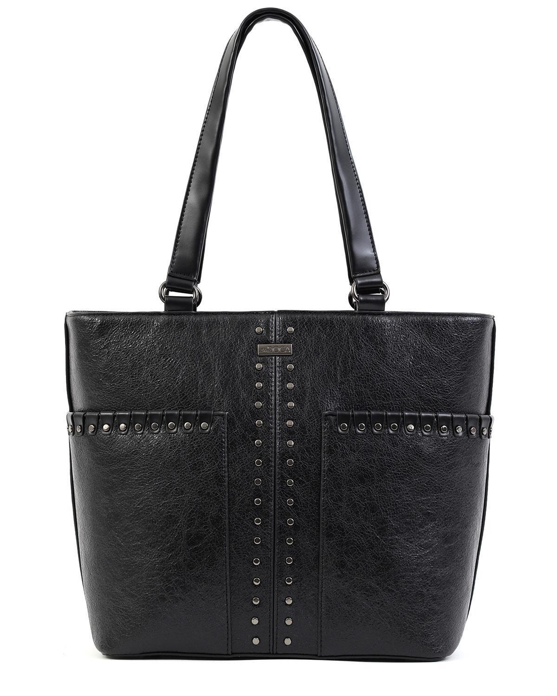 Καθημερινή τσάντα χειρός/ώμου μαύρη DOCA