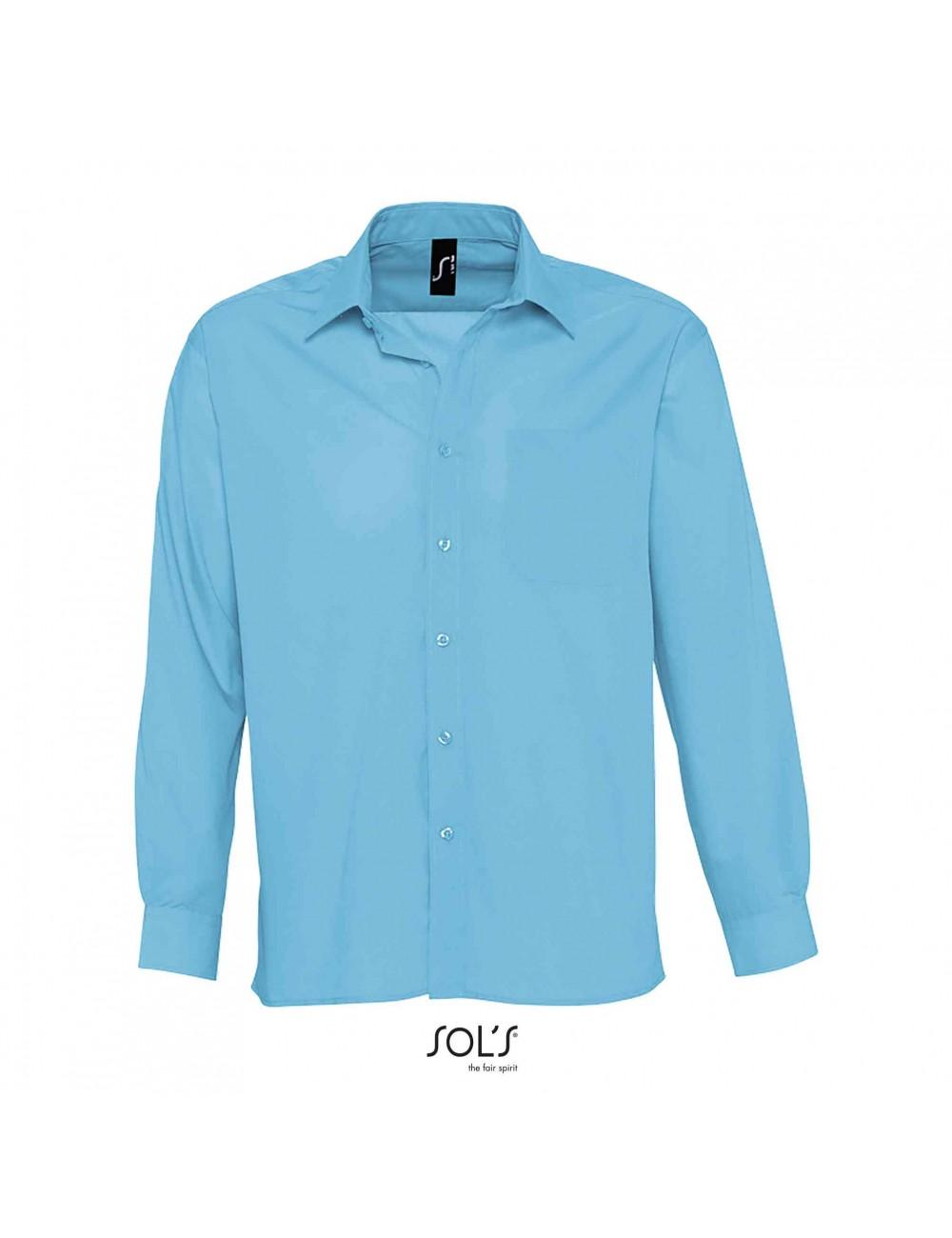 Ανδρικό μακρυμάνικο πουκάμισο από ποπλίνα