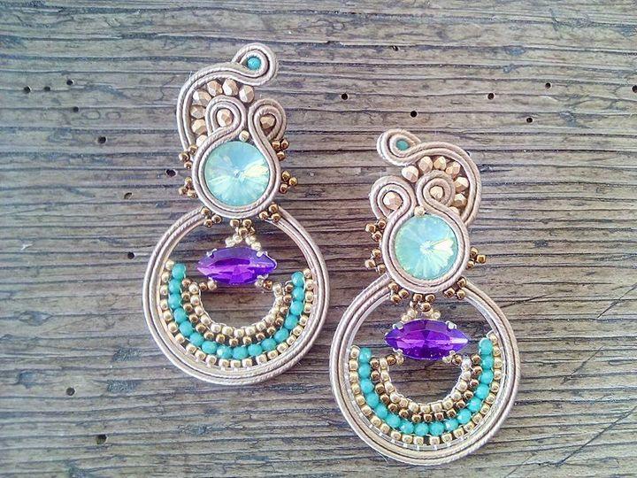 """Orecchini """"Purple sea"""""""