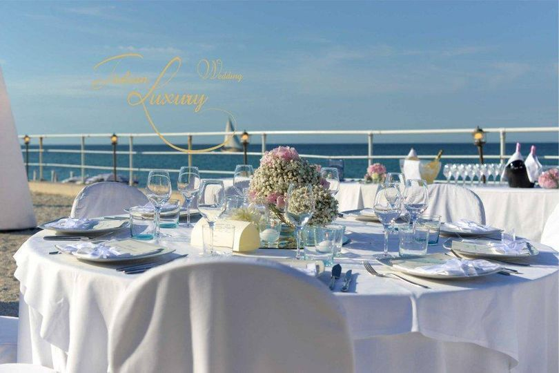 Everything's prepared and carefully arranged by our designers and wedding planners #wedding #beachwedding #luxury