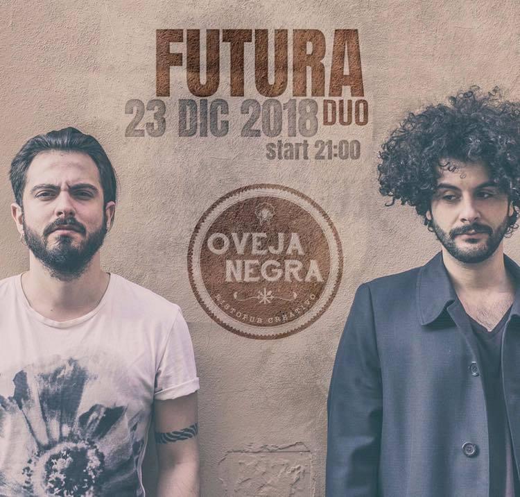 Un po' di buona musica sotto l'albero. Oveja Negra ospiterà un carismatico live musicale con i FUTURA DUO. Domenica 23 dicembre 🎄 Vi aspettiamo!