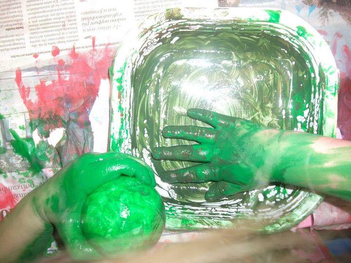 creazione di palline natalizie
