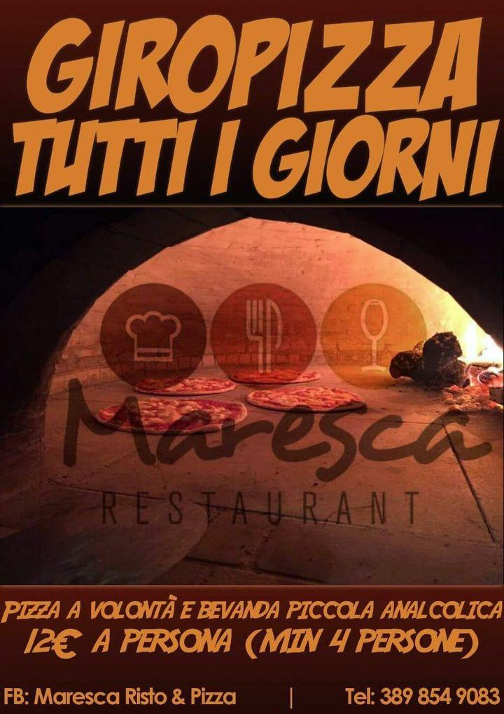 Da Ottobre riparte il Giropizza di Maresca Risto & Pizza prenota al 3898549083