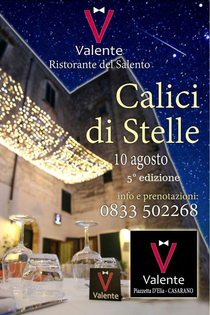 5° edizione... Come ogni anno vi aspettiamo per trascorrere insieme questa magnifica serata colma di stelle e di calici, brindando insieme...