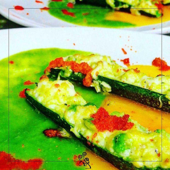 Zucchini di sarago, piselli e verdure primaverili  #locanda #camini #botrugno #artgallery #fish #chef