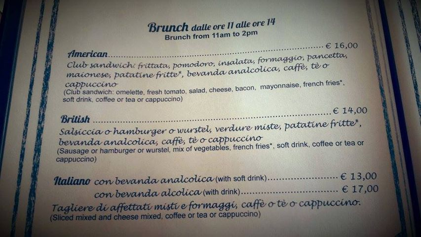 Menu Brunch