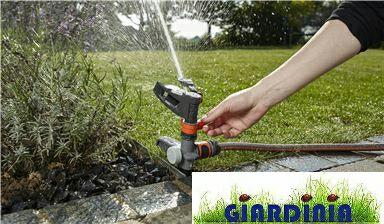 Irrigatore a impulso GARDENA..a settori su picchetto🌼