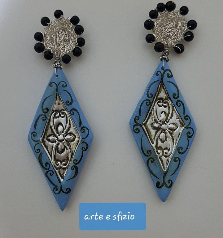 orecchini alluminio e ceramica
