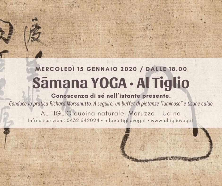 Sāmana YOGA Al Tiglio • con Richard
